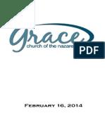 Worship Folder 2-16-14