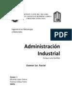 Administración, Examen, 1er. parcial