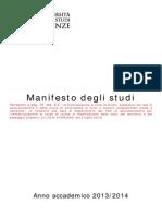 Manifesto Studi 1314