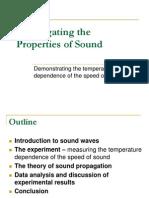 Speed of Sound Presentation