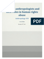 Forensic Anthropologists and Their Roles in Human Rights Abuses