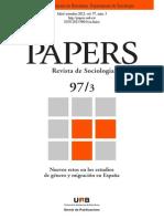 Revista de Sociologia.papers. Nro. 97. Julio Set.2012