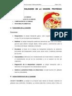 TEMA V. GENERALIDADES DE LA SNGRE. PROTEÍNAS PLASMÁTICAS