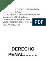 Derecho Penal i(Ene-Abril 2013)