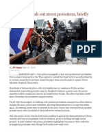 Thai Police Push Out Street Protesters, Briefly