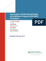 Gap Analysis of Public Mental Health