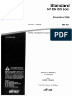 Standard NF en ISO 9001 - Rev Nov 2008