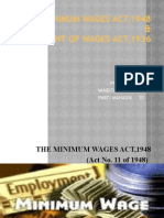 Payment of wages act n Minimum wages act