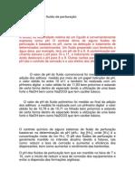 Valores de pH do fluido de perfuração