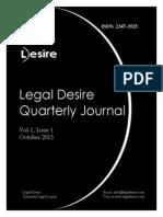 Legal Desire Quarterly Journal Vol 1