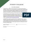 Bowdoin Volunteer Agreement
