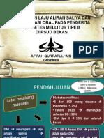 Hubungan Laju Aliran Saliva dan Manifestasi Oral pada Penderita Diabetes Mellitus Tipe II di RSUD Bekasi