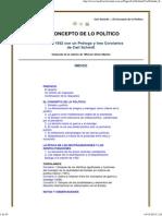 (Carl Schmitt - El Concepto de lo Político)