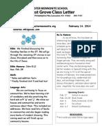 Newsletter 2-14-14