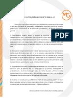 Declaración publica MG