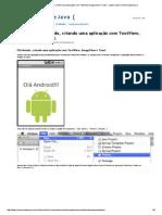 Android - Olá Mundo, criando uma aplicação com TextView, ImageView e Toast