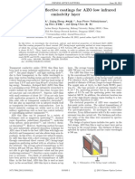 Design of antireflective coatings for AZO low infrared emissivity layer