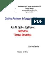 384092-Aula_5__Barômetros_FENT_2013.2_[Modo_de_Compatibilidade]