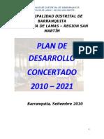 Pdc Plan de Desarrollo Concertado 2010-2021