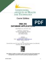 dba 201 syllabus piht winter 2014