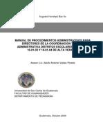 Manual de Procesos Administrativos