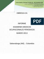 Informe Obresca CA 2013 Ex