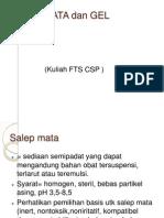 Materi Kuliah FTS CSP Salep Mata Dan Gel