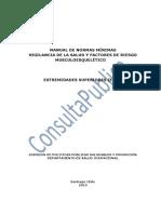 Manual de Normas Minimas Vigilancia de La Salud y Factores de Riesgo Musculoesqueletico