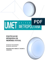 POLÍTICAS DE BÚSQUEDA EN MEMORIA VITUAL
