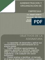 ADMINISTRACION Y ORGANIZACIÓN DE EMPRESAS  UAC 2013