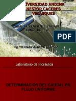 Determinacion del caudal en flujo uniforme.ppt