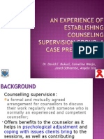 an experience of establishing counseling supervision