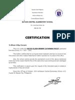 Certification Good Moral