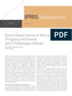 "Mansour Hadah, Mohamed, ""Good Governance in Africa_ Progress Achieved and Challenges Ahead"""