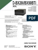 Sony Hcd-bx20i,Bx50ti Sm