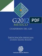 G2012, México, cuadernos del g20, Participación mexicana, Aranda Bezaury, Lourdes