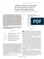 First-Zone Distance Relaying Algorithm of Parallel Transmission Lines for Cross-Country Nonearthed Faults