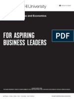 An Undergraduate Business Magazine - For Aspiring Business Leaders