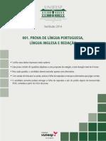 2014 - MISTO - Caderno de Questões - Prova de Língua Portuguesa, Língua Inglesa e Redação - Versão 01