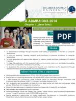 MCA Admissions 2014 Brochure