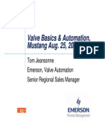 Valve Basics and Automation Aug. 25, 2009