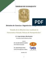 Tesis Maestría - Estudio de la Ablación Láser mediante la Fotoacústica Pulsada - Síntesis de Nanopartículas (Versión Final)