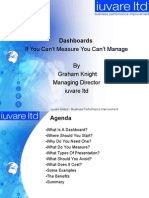 Dashboards - If you can't measure it - you can't manage it