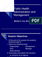Public Health Administration and Management