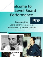 Welcome to Top Level Board Performance