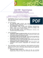 Modul KSR 3 - Kepemimpinan