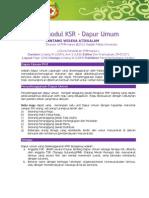 Modul KSR 10 - Dapur Umum