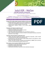 Modul KSR 13 - Water Sanitation