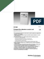 Compact Fire Detection Control Unit A6V10092709 Hq En