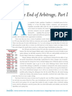 The End of Arbitrage, Part 1